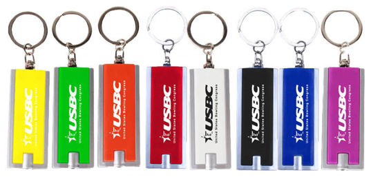 Picture of Flashlight LED Keychain (State And Local Logo)